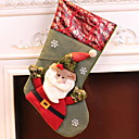 cheap Home Decoration-Stockings Holiday / Cartoon Canvas Square Novelty Christmas Decoration