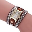 cheap Women's Watches-Women's Bracelet Watch Quartz New Design Casual Watch Imitation Diamond PU Band Analog Casual Fashion Black / White / Blue - Red Blue Pink One Year Battery Life