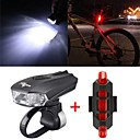 cheap Bike Lights-LED Bike Light Front Bike Light Rear Bike Tail Light Mountain Bike MTB Cycling Waterproof Adjustable Quick Release 800 lm Rechargeable / Power Cold White Red Camping / Hiking / Caving Cycling / Bike