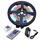 cheap Flexible LED Light Strips-5m Flexible LED Light Strips / Light Sets 300 LEDs 3528 SMD 1 44Keys Remote Controller / 1 x 2A power adapter RGB Cuttable / Linkable / Self-adhesive 100-240 V 1pc