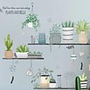 Недорогие Декоративные стикеры-Декоративные наклейки на стены - Простые наклейки Цветочные мотивы / ботанический Спальня
