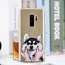 Недорогие Косметика и уход за ногтями-Кейс для Назначение SSamsung Galaxy S9 Plus / S9 Прозрачный / С узором Кейс на заднюю панель С собакой Мягкий ТПУ для S9 / S9 Plus / S8 Plus