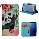 billiga LED-lampor med G-sockel-fodral Till Samsung Galaxy S9 Plånbok / Korthållare / med stativ Fodral Panda Hårt PU läder för S9