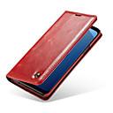 baratos Acessórios para Relógios-Caseme caso para samsung galaxy s9 plus / s9 titular do cartão / flip casos de corpo inteiro de cor sólida de couro duro pu para s9 / s9 plus / s8 plus