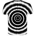 ieftine Ustensile & Gadget-uri de Copt-Bărbați Rotund Tricou Club De Bază / Șic Stradă - Bloc Culoare / #D Imprimeu Alb negru Alb / Manșon scurt / Vară
