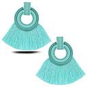 저렴한 귀걸이-여성용 태슬 드랍 귀걸이 - 유럽의, 패션, 대형 레드 / 블루 / 라이트 그린 제품 파티 캐쥬얼