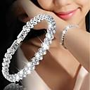 hesapli Bilezikler-Kadın's Tenis zinciri Vintage Bilezikler Kristal Bileklik - Aşk Lüks, moda, Moda Bilezikler Altın / Gümüş / Gül Altın Uyumluluk Düğün Nişan