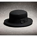 رخيصةأون قبعات الرجال-أسود قبعة فيدورا لون سادة رجالي بوليستر