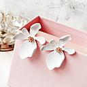 baratos Brincos-Mulheres Clássico Brincos Curtos - Flor senhoras Simples Doce Fashion Jóias Verde / Azul / Rosa claro Para Casual Diário 1 par