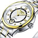 levne Pánské-Pánské Pro páry Hodinky k šatům mechanické hodinky zlaté hodinky japonština Automatické natahování Nerez Stříbro 30 m Voděodolné Svítící Velký ciferník Analogové Klasické Na běžné nošení Módní -