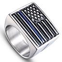 preiswerte Armbänder-Herrn Stilvoll Skulptur Ring - Rostfrei Fahne Stilvoll, Einfach, Einzigartiges Design 9 / 10 / 11 / 12 Silber Für Alltag Strasse