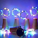 رخيصةأون جواكيت رجالي-hkv® الشمسية 10led زجاجة النبيذ الفلين على شكل سلسلة أضواء النجوم أضواء الليل الجنية مصباح لحديقة الزفاف وحفلة عيد الميلاد