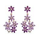 hesapli Takı Setleri-1 çift Kadın's Klasik Şık Damla Küpeler - Çiçek Bayan Şık Klasik Mücevher Beyaz / Mor / Yeşil Uyumluluk Günlük