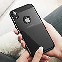 olcso iPhone tokok-Case Kompatibilitás Apple iPhone XR / iPhone XS Max Dombornyomott Fekete tok Egyszínű Kemény PC mert iPhone XS / iPhone XR / iPhone XS Max