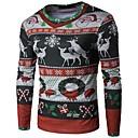 ieftine Ustensile & Gadget-uri de Copt-Bărbați Rotund Tricou Crăciun Geometric / Fulg zăpadă Desene Trifoi / Manșon Lung / Toamnă / Iarnă