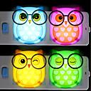levne Pánské-BRELONG® 1ks Sova LED noční světlo Červená / Modrá / Žlutá Zasilanie AC Komiks / Ovládání světla / Noc 85-265 V