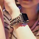 رخيصةأون ساعات النساء-حزام إلى أبل ووتش سلسلة 5/4/3/2/1 Apple عصابة الرياضة نايلون / جلد طبيعي شريط المعصم