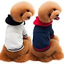 preiswerte Hundespielsachen-Hunde / Katzen Pullover Hundekleidung Solide Weiß / Dunkelblau / Grau Baumwolle Kostüm Für Haustiere Männlich Simple Style / Beiläufig / sportlich
