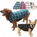 cheap Makeup & Nail Care-Dog Coat Vest Dog Clothes Plaid / Check Brown Red Green Cotton Costume For Husky Labrador Alaskan Malamute Spring &  Fall Winter Men's Women's Waterproof Keep Warm Reversible / Windproof