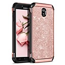 cheap Galaxy J Series Cases / Covers-BENTOBEN Case For Samsung Galaxy J7 (2017) Shockproof / Plating / Glitter Shine Back Cover Solid Colored / Glitter Shine Hard PU Leather / TPU / PC for J7 (2017)