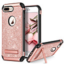 abordables Fundas para iPhone-BENTOBEN Funda Para Apple iPhone 8 / iPhone 8 Plus Antigolpes / con Soporte / Cromado Funda Trasera Brillante Dura Cuero de PU / TPU / ordenador personal para iPhone 8 Plus / iPhone 8 / iPhone 7 Plus