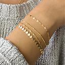 preiswerte Armbänder-Damen Gliederkette ID Armband - Modisch, Elegant Armbänder Gold Für Alltag Arbeit / 4pcs