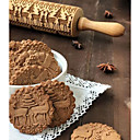 cheap Baking Tools & Gadgets-Bakeware tools Wood New Arrival / Christmas For Cookie Animal Rolling Pin 1pc