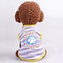 Χαμηλού Κόστους Αξεσουάρ Wii-Σκυλιά Γάτες Veste Ρούχα για σκύλους Περλέ Χαρακτήρας Γράμμα & Αριθμός Βυσσινί Φούξια Μπλε Τερυλίνη Στολές Για Γκόλντεν Ριτρίβερ Μπόρντερ Κόλεϊ Κόργκι Καλοκαίρι Γιούνισεξ Καθημερινά μινιμαλιστικό στυλ