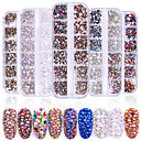 cheap Nail Rhinestones & Decorations-1440 pcs Classic / High Transparency Rhinestone Nail Jewelry Rhinestones For Finger Nail Wedding Ball nail art Manicure Pedicure Party / Evening / Daily / Engagement Party Artistic / Aristocrat Lolita
