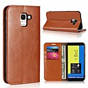 cheap Universal Cases & Bags-Case For Samsung Galaxy J7 (2017) / J5 (2017) Card Holder / with Stand Full Body Cases Solid Colored Hard Genuine Leather for J7 (2017) / J6 (2018) / J5 (2017)