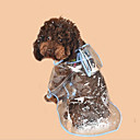 זול אביזרים ובגדים לכלבים-כלבים / חתולים מעיל גשם בגדים לכלבים קולור בלוק / פשוט לבן / פוקסיה / כחול PVC תחפושות עבור חיות מחמד יוניסקס רגיל / עמיד למים