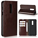 cheap Other Cases-Case For OnePlus OnePlus 6 / OnePlus 5T Card Holder / with Stand Full Body Cases Solid Colored Hard Genuine Leather for OnePlus 6 / One Plus 5 / OnePlus 5T