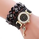 ieftine Cercei-Pentru femei Ceas de Mână Diamond Watch ceasul cu ceas Quartz Piele PU Matlasată Negru / Alb / Albastru Ceas Casual Adorabil imitație de diamant Analog femei Modă Elegant - Albastru Roz Albastru