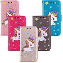cheap Galaxy J Series Cases / Covers-Case For Samsung Galaxy J6 / J4 Pattern Full Body Cases Unicorn Hard PU Leather for J7 (2017) / J6 (2018) / J4 (2018)
