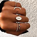 ieftine Inele-Pentru femei Inel / Set de inele / Inel Multi Degete 5pcs Auriu / Argintiu Reșină / Aliaj Oval femei / Neobijnuit / Design Unic Cadou / Zilnic / Stradă Costum de bijuterii / Αστέρι