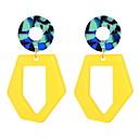 billige Smykkesett-Dame Dråpeøreringer geometriske damer Stilfull Enkel Unikt design øredobber Smykker Hvit / Gul Til Fest Avslappet 1 par