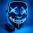 Недорогие Мотоциклетные перчатки-Хэллоуин маска мотоцикл маска светодиодная подсветка партии маска ясно год выборов большой смешной маска фестиваль косплей костюм поставки светятся в темноте