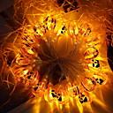 tanie Taśmy świetlne LED-2 m Łańcuchy świetlne 20 Diody LED Żółty Dekoracyjna Zasilanie bateriami AA 1 zestaw