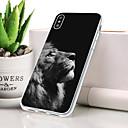 저렴한 아이폰 케이스-케이스 제품 Apple iPhone XS 방진 / 울트라 씬 / 패턴 뒷면 커버 동물 / 사자 소프트 TPU 용 iPhone XS