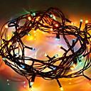 tanie Taśmy świetlne LED-3 M Łańcuchy świetlne 40 Diody LED Wiele kolorów Dekoracyjna Zasilanie bateriami AA 1 zestaw