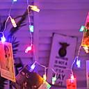 tanie Taśmy świetlne LED-3 M Łańcuchy świetlne 17 Diody LED Wiele kolorów Dekoracyjna Zasilanie bateriami AA 1 zestaw