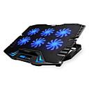 ieftine Ac Cravată-reglabil condus de ecran de control inteligent răcire tampon laptop cu 5 ventilatoare