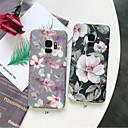 رخيصةأون حافظات / جرابات هواتف جالكسي S-غطاء من أجل Samsung Galaxy S9 / S9 Plus / S8 Plus مثلج / نموذج غطاء خلفي زهور قاسي الكمبيوتر الشخصي