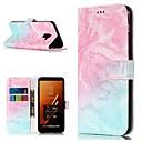 economico Custodie / cover per Galaxy serie A-Custodia Per Samsung Galaxy A8 Plus 2018 / A5(2017) A portafoglio / Porta-carte di credito / Con supporto Integrale Effetto marmo Resistente pelle sintetica per A3 (2017) / A5 (2017) / A8 2018
