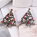 cheap Brooches-Women's Hollow Out Brooches - Rhinestone Christmas Tree Ladies, Stylish, Classic Brooch Jewelry Gold / Silver For Christmas