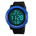levne Pánské-Pánské Sportovní hodinky Digitální hodinky japonština Digitální Silikon Černá 30 m Voděodolné Alarm Kalendář Digitální Módní - Černá Černá / Modrá / Chronograf / Stopky / Svítící