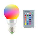 Χαμηλού Κόστους Λαμπτήρες LED σφαίρα-2 W LED Φώτα Σκηνής 2700-7000 lm E14 E26 / E27 1 LED χάντρες LED Υψηλης Ισχύος Τηλεχειριζόμενο Διακοσμητικό RGB 85-265 V / 1 τμχ / RoHs / CCC
