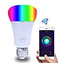 voordelige LED-bollampen-slimme wifi lamp app controle rgbw dimbare e27 / e26 led-lamp werkt met alexa google home16 miljoen kleuren ac 85-265v