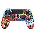 abordables Accesorios para PS4-TOYILUYA Kits de controlador de juego Para Sony PS4 ,  Creativo / Gradiente de Color / Gracioso Kits de controlador de juego Silicona 1 pcs unidad