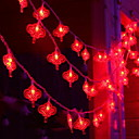 tanie Taśmy świetlne LED-3 M Łańcuchy świetlne 20 Diody LED Czerwony Dekoracyjna Zasilanie bateriami AA 1 zestaw